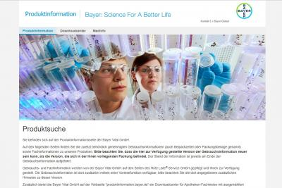 Bayer Produktinformation