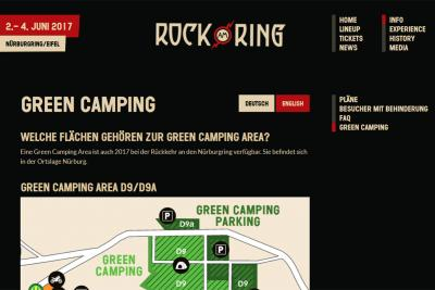 Rock am Ring 2017 Green Camping Registrierung