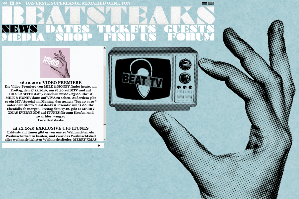 Beatsteaks Website Relaunch 2011