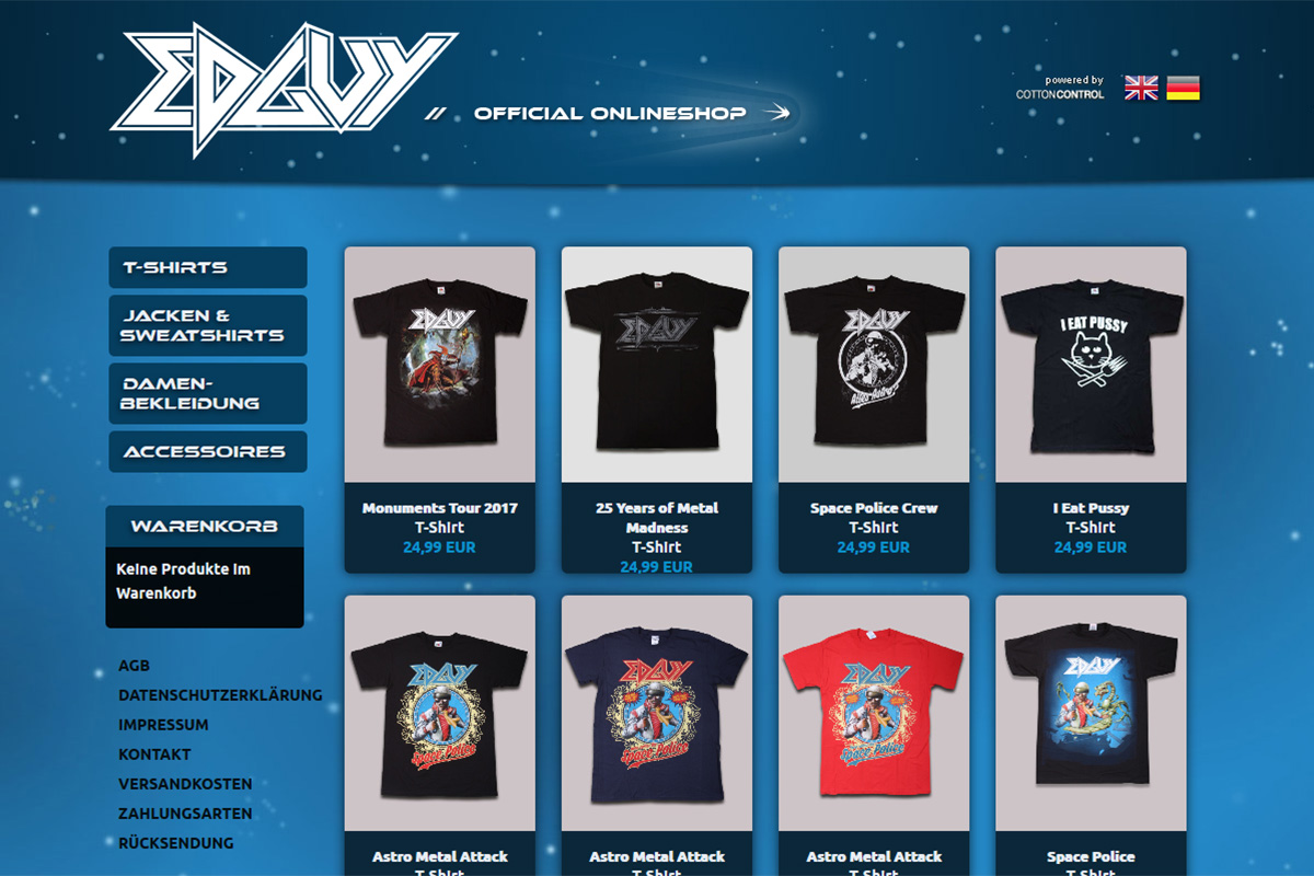 Edguy Official Merchandise