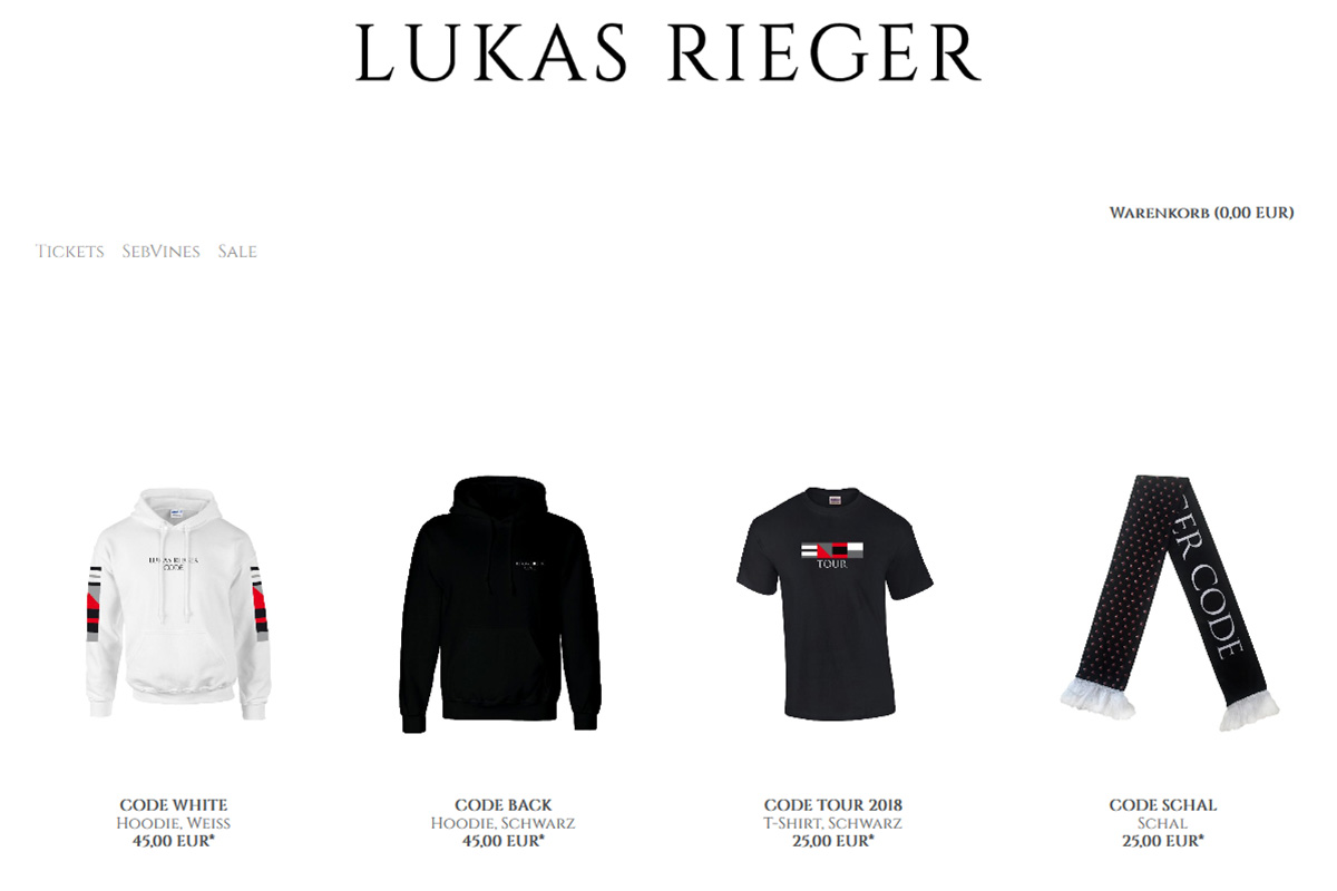 Lukas Rieger Shop Relaunch 2018