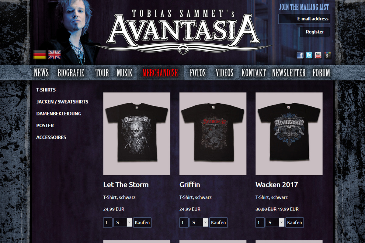 Avantasia Official Merchandise