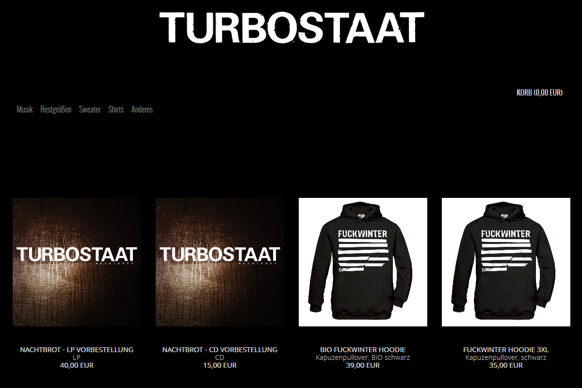 Turbostaat Shop 2018